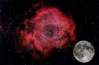 The Moon Compared to the Rosette Nebula