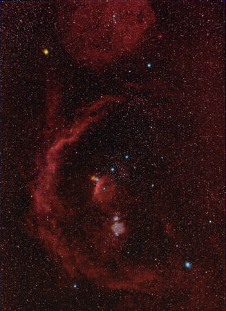 Orion Area Widefield in HaRGB