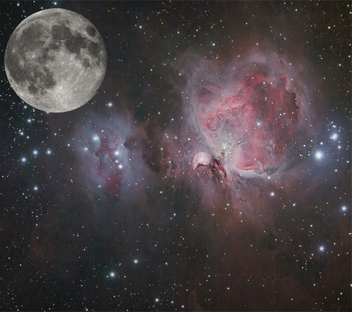 The Moon Compared to the Orion Nebula