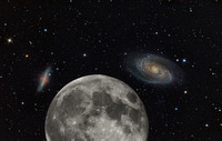 The Moon Compared to M81 and M82