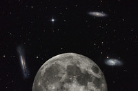 The Moon Compared to the Leo Triplet